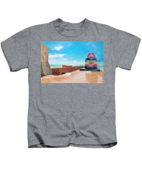 The Southern Most Point Key West Florida Kids T-Shirt