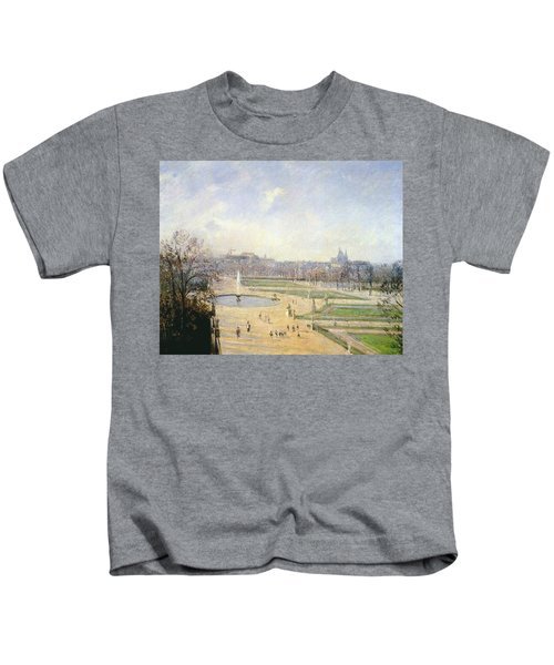 The Tuileries, Bassin - Afternoon, Sun, 1900 Kids T-Shirt