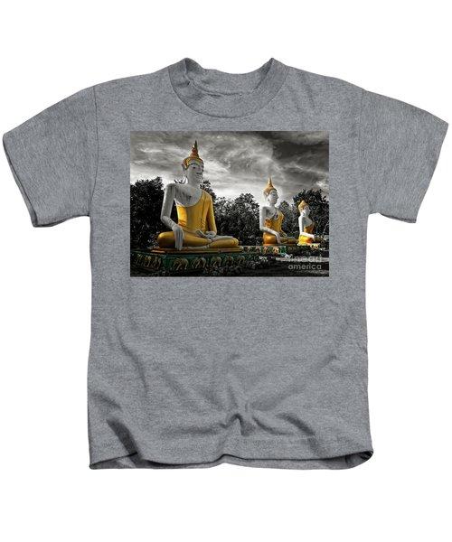 Three Golden Buddhas Kids T-Shirt