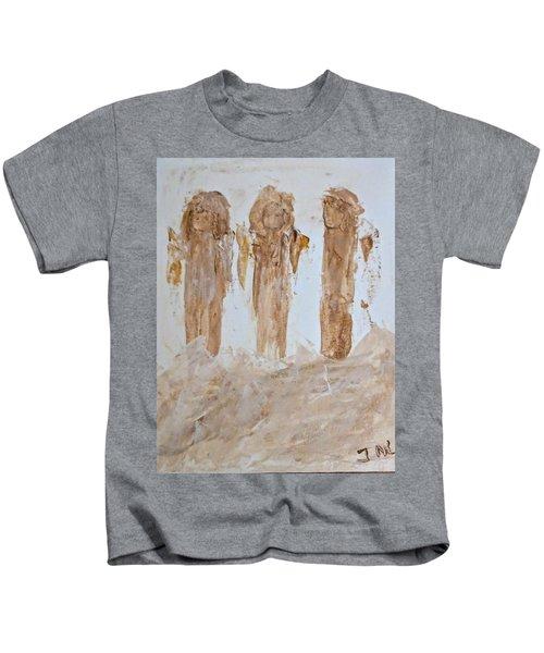 Three Little Muddy Angels Kids T-Shirt