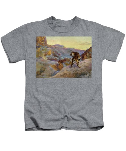 Tiger In The Mountains Kids T-Shirt