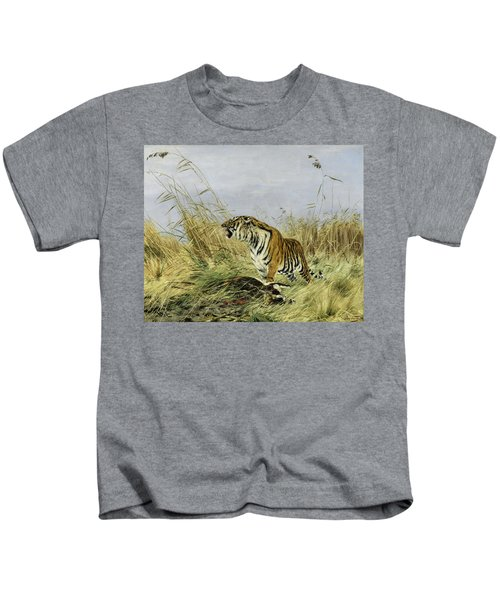 Tiger With Antelope Kids T-Shirt