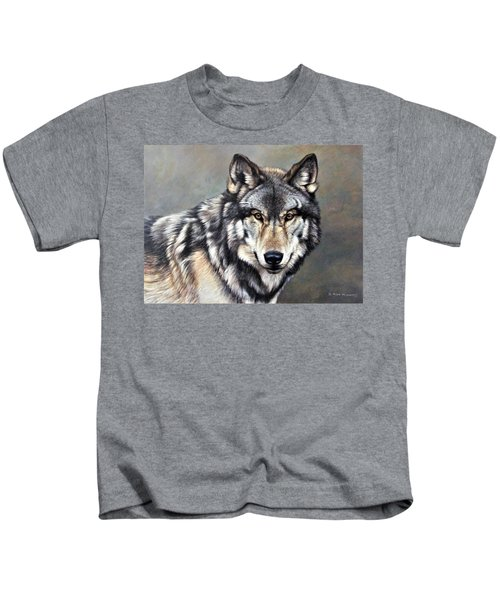 Timber Wolf By Alan M Hunt Kids T-Shirt