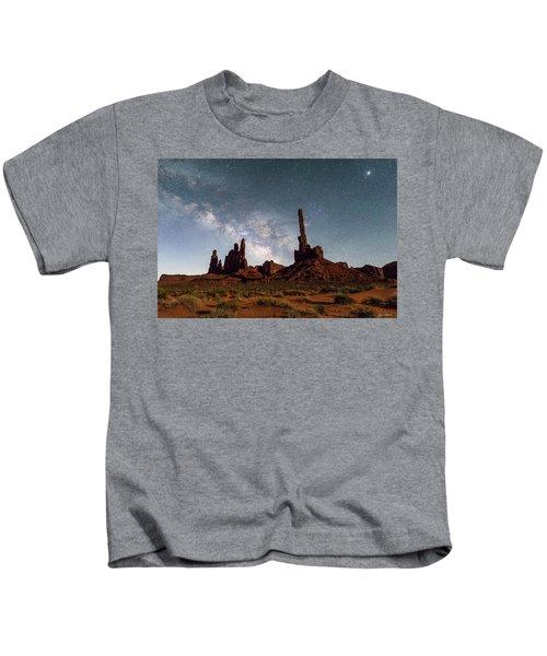 Totem Pole, Yei Bi Che And Milky Way Kids T-Shirt