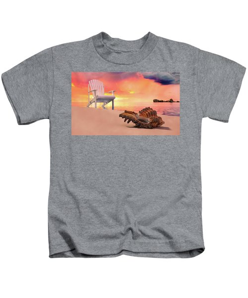 Tranquil By The Sea Kids T-Shirt
