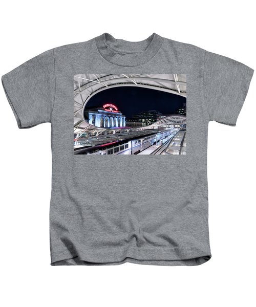 Travel By Train - Union Station Denver #2 Kids T-Shirt