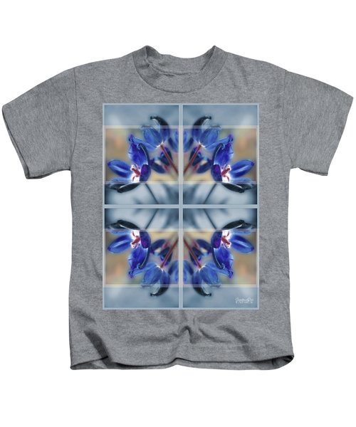 Tulips Of Stained Glass Kids T-Shirt