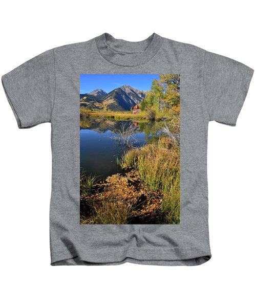 Twin Lakes Reflection In Colorado Kids T-Shirt