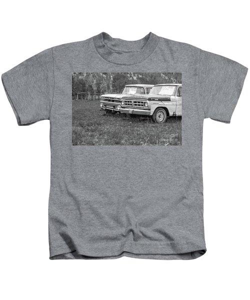 Two Old Pickup Trucks Utah Kids T-Shirt