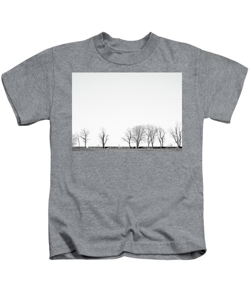 Under A Winter Sky Kids T-Shirt
