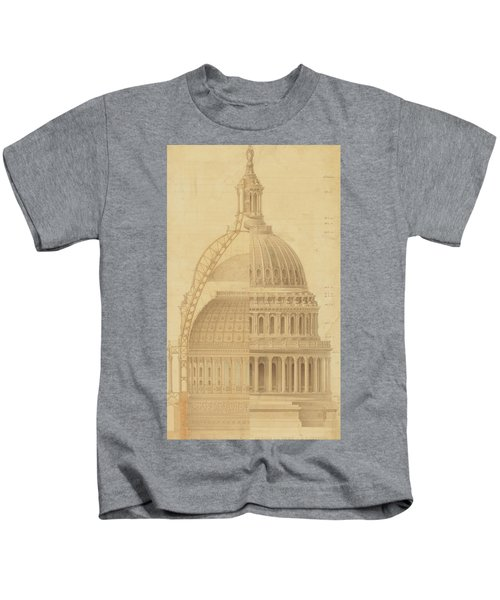 United States Capitol, Section Of Dome, 1855 Kids T-Shirt