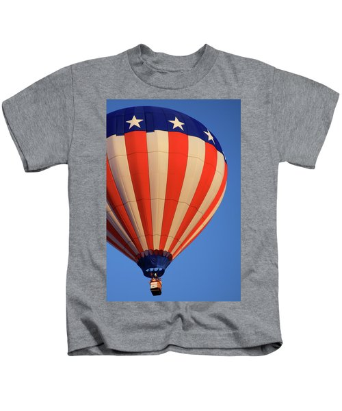 Usa Patriotic Hot Air Balloon Kids T-Shirt