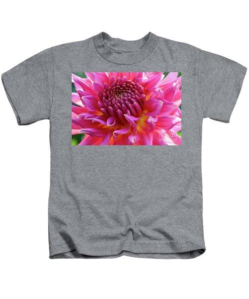 Vibrant Dahlia Kids T-Shirt