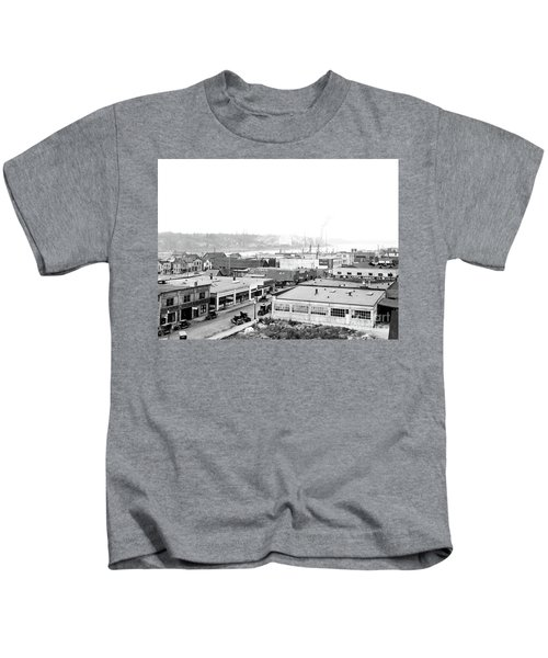 View Nw Over Olympia From Elks Building On Capitol Way 1929 Kids T-Shirt