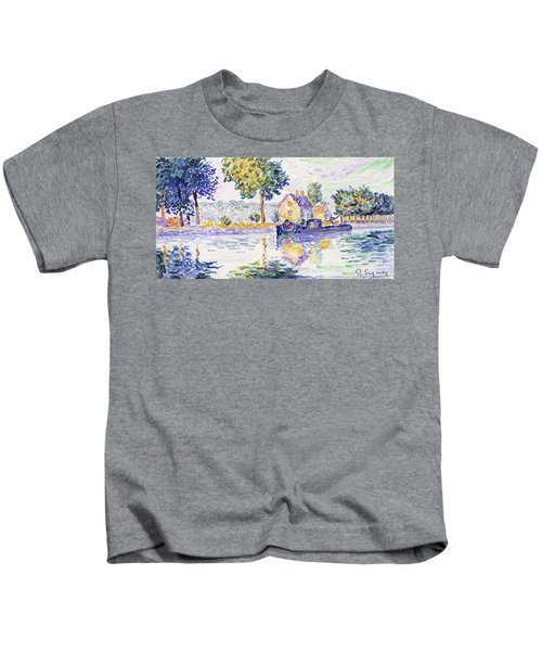View Of The Seine, Samois - Digital Remastered Edition Kids T-Shirt