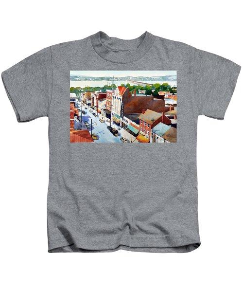 Vintage Color, Columbia Rooftops Kids T-Shirt