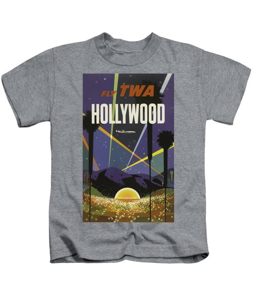 Vintage Travel Poster - Hollywood Kids T-Shirt