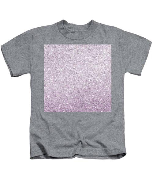 Violet Glitter Kids T-Shirt