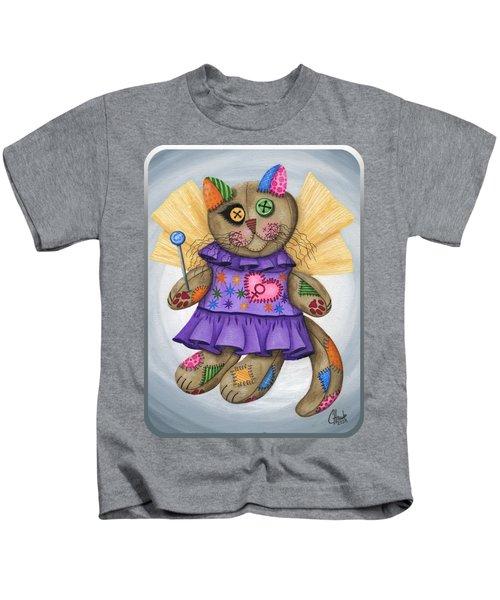 Voodoo Empress Fairy Cat Doll - Patchwork Cat Kids T-Shirt