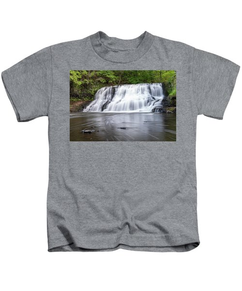 Wadsworth Falls In Middletown, Connecticut U.s.a.  Kids T-Shirt