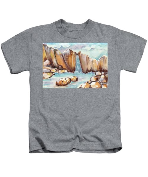 Waterfall And Stones In The Water  Kids T-Shirt