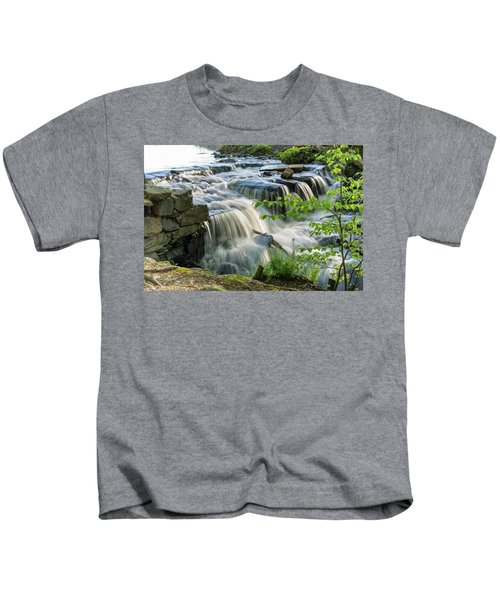 Waterfall At The Old Mill  Kids T-Shirt