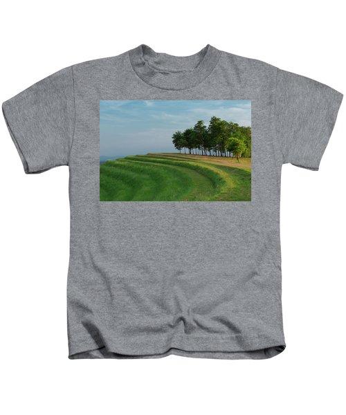 Waves Of Grass Kids T-Shirt