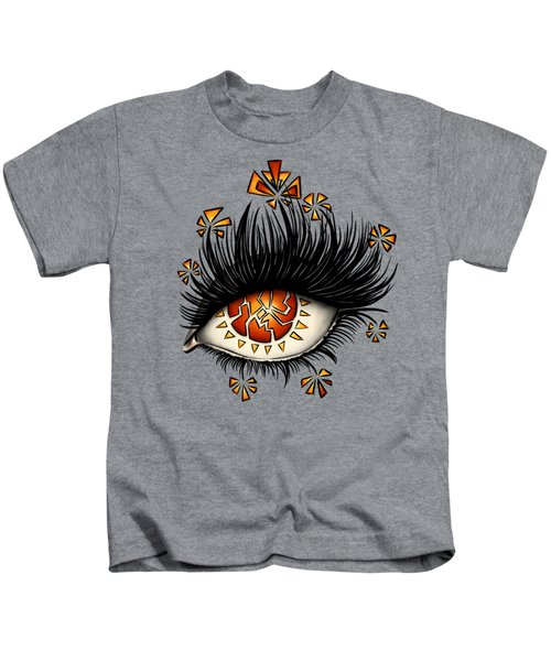 Weird Psychedelic Eye Of Fractured Lava Kids T-Shirt