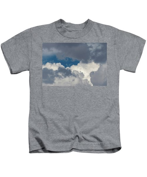 White And Gray Clouds Kids T-Shirt