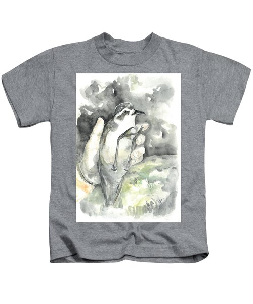 White-faced Storm-petrel Kids T-Shirt