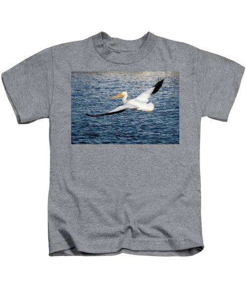 White Pelican Wingspan Kids T-Shirt