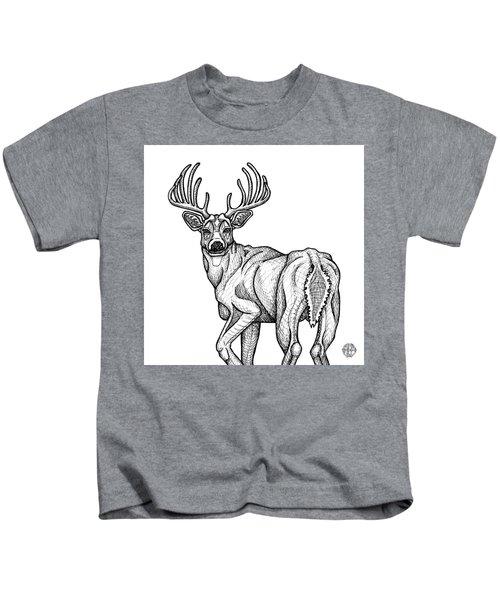 White Tailed Buck Kids T-Shirt
