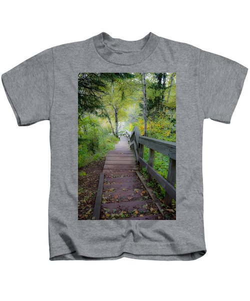 Winding Stairs In Autumn Kids T-Shirt