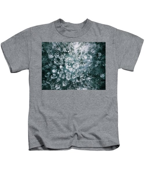 Winter Forest - Aerial Photography Kids T-Shirt