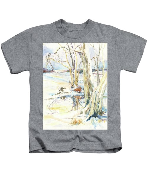 Winter Fox Kids T-Shirt