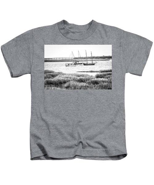 Winter Mooring - Beaufort River Kids T-Shirt