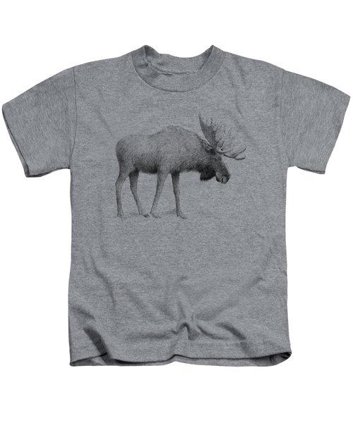 Winter Moose Kids T-Shirt