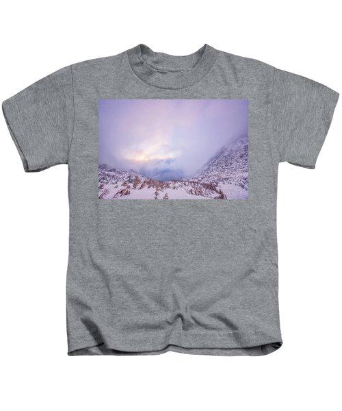 Winter Morning Light Tuckerman Ravine Kids T-Shirt