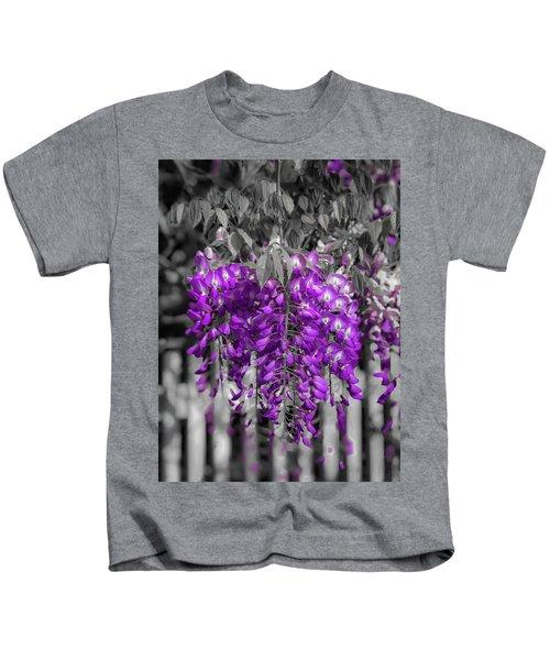 Wisteria Falling Kids T-Shirt