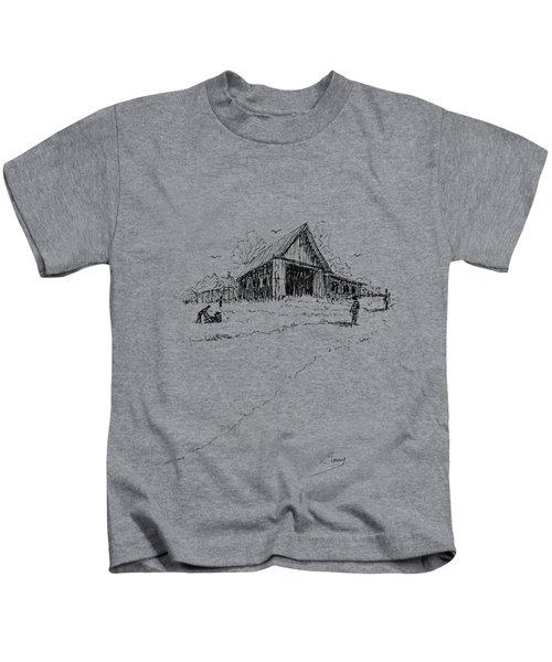 Yard-work On The Farm Kids T-Shirt