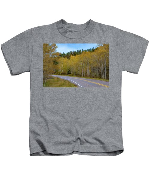 Yellow Aspens Kids T-Shirt