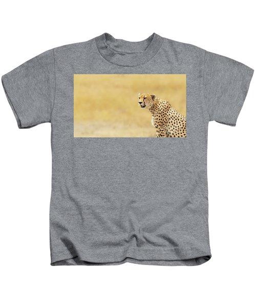 Young Adult Cheetah Banner Kids T-Shirt