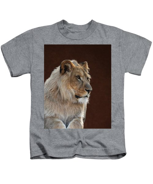 Young Male Lion Portrait Kids T-Shirt