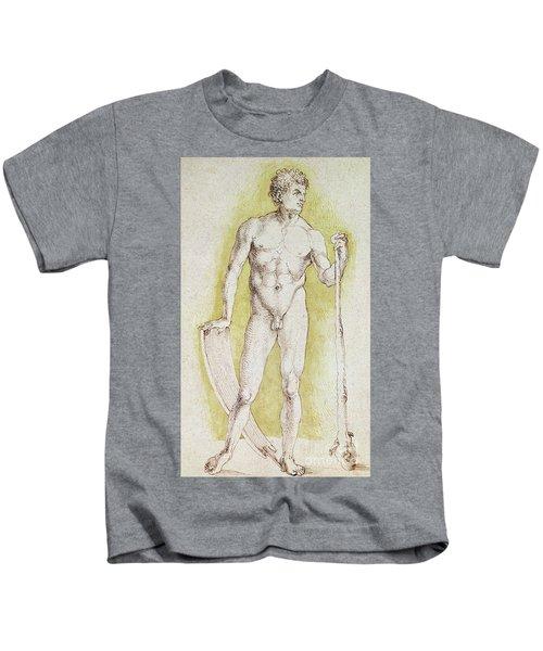 Young Nude Man Kids T-Shirt