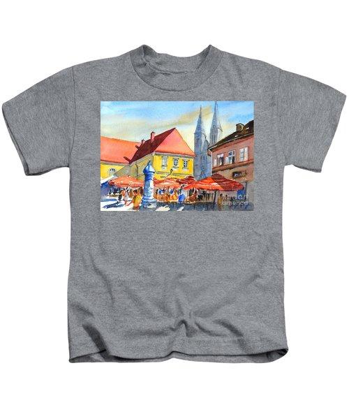 Zagreb Near Dolce Market Kids T-Shirt
