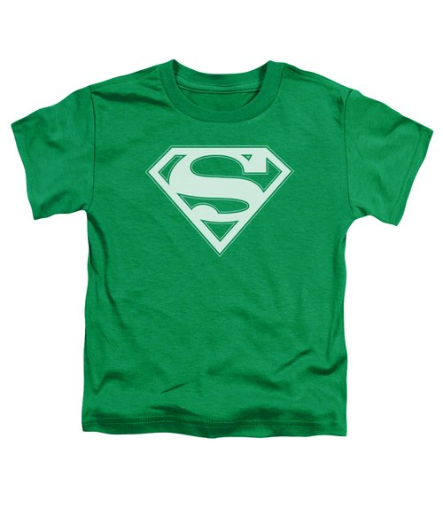 Superman - Green And White Shield Toddler T-Shirt