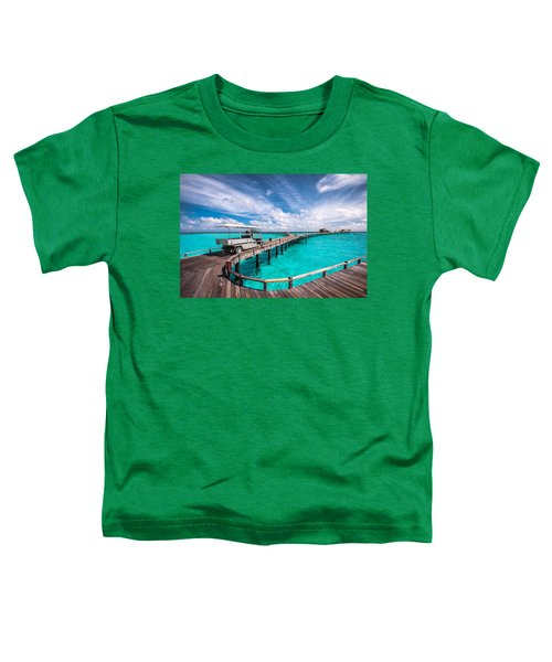 Baggy On The Jetty Over The Blue Lagoon Toddler T-Shirt