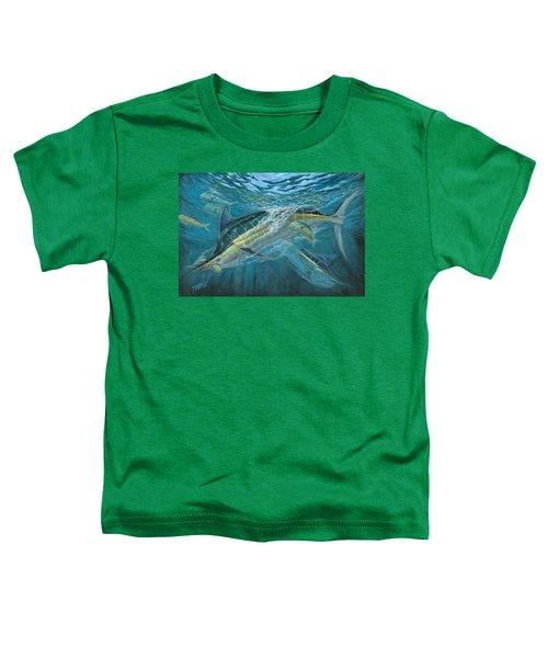 Blue And Mahi Mahi Underwater Toddler T-Shirt