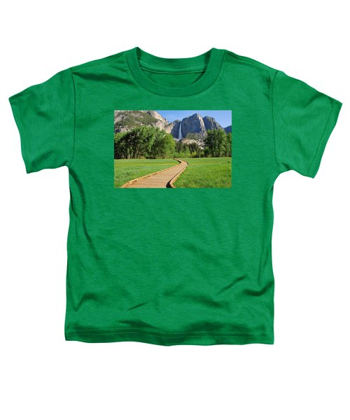 Boardwalk To Yosemite Falls  Toddler T-Shirt