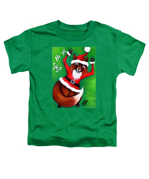 Foxy Santa Toddler T-Shirt